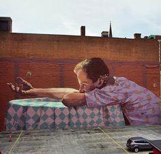 New Street Art by Bezt Etam in Providence, Rhode Island   #art #arte #mural #streetart