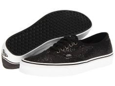 Vans Authentic™ (Glitter) Black/Micro Dots - Zappos.com Free Shipping BOTH Ways