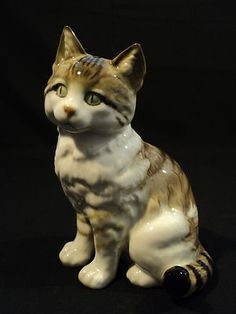 Vintage Black Cat Statue  or Figurine Halloween and Beyond. Description from pinterest.com. I searched for this on bing.com/images