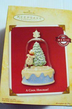 2004 Hallmark Keepsake Ornament - A Cool Holiday Hallmark Christmas Ornaments, Hallmark Keepsake Ornaments, Cool Stuff, Holiday, Vacations, Holidays, Vacation, Annual Leave