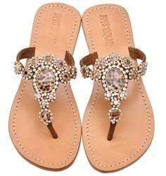 #4146 Mystique crown shell  Sandals #2dayslook #Sandals #fashion #nice #new  www.2dayslook.com