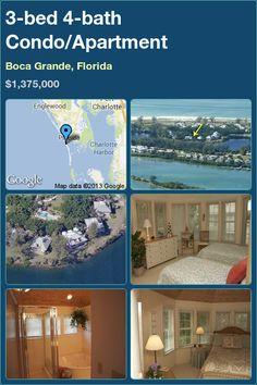 3-bed 4-bath Condo/Apartment in Boca Grande, Florida ►$1,375,000 #PropertyForSale #RealEstate #Florida http://florida-magic.com/properties/6566-condo-apartment-for-sale-in-boca-grande-florida-with-3-bedroom-4-bathroom