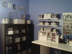 I heart my #Periwinkle #craft room! #Organized space. #CaravanCreations
