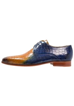 Melvin & Hamilton LANCE - Schnürer - shade dark brown/yellow/blue - Zalando.at Men Dress, Dress Shoes, Melvin Hamilton, Dark Brown, Yellow, Blue, Oxford Shoes, Lace Up, Shades
