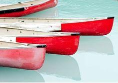 pink & red boats #SunorSinCity