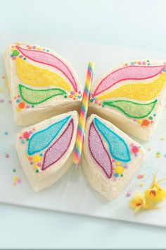 Celebrate spring, summer, a birthday or any day with a butterfly-shaped cake. Check out the How-To video.