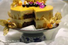 Gooseberry Mango Mousse Cake