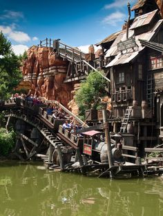 Disneyland Paris, Big Thunder Mountain - our family's favourite ride and super cool in the dark!