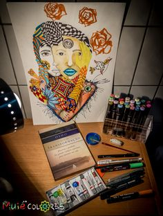 ilustração Muié Colores-Flor Diantares