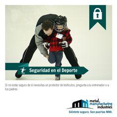 El tip de #Seguridad en el Deporte de hoy, es para aquellos chicos que practican algún deporte de contacto.
