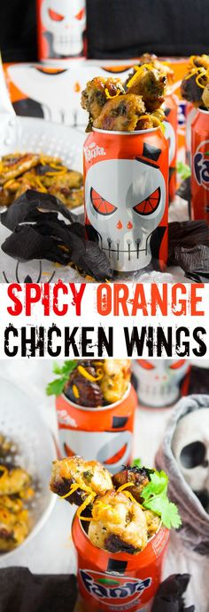 Spicy Orange Baked Chicken Wings. This will be your go to chicken wings recipe--sweet, spicy, zesty, smokey and addictively delicious!! This recipe will rock your party table! #WickedFantaFun #ad www.twopurplefigs.com