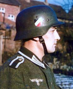 color M35 double decal Heer German Army helmet stahlhelm