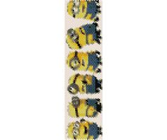 INSTANT DOWNLOAD!!!!!!!!  Minions bracelet in even count peyote pattern, the pattern is (1.7in x 6.3in). It can be re-sized if requested.  The PDF file includes  1. Bead Chart 2. Bead legend  The pattern is designed using 11/0 Mikuyi Delicas in 17 colors  *****Please note that instructions for peyote stitch are not included********  This pattern is for personal use, however, you can sell bracelet done by it, always giving credit to the designer.