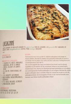 Lasagna van aubergine!