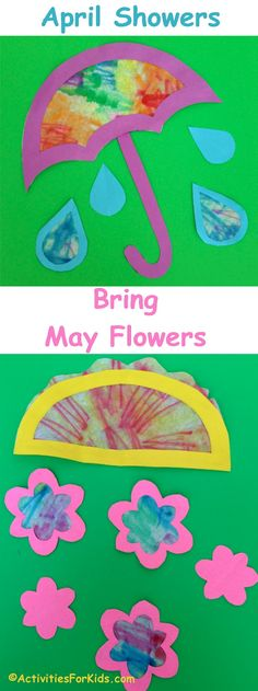 for kids april showers bring may flowers craft for kids april showers