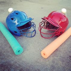 Tape a raw egg on top of a helmet, and have students use pool noodles to try and…