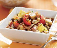 Slow-Cooker Ratatouille (via Parents.com) No mushrooms, add zucchini and extra squash. Add garlic and less pepper.