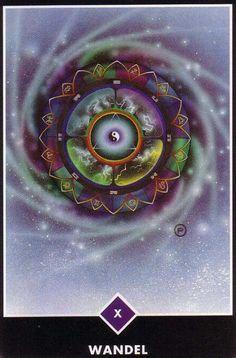 X. The Wheel of Fortune (Change) - Osho Zen Tarot by Ma Deva Padma