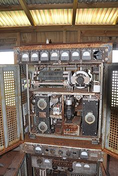 An old transmitter at the Pitcairn HF radio station.