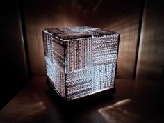 DIY: Learn How to Make a Cool Cube Lamp Using Recycled Corrugated Cardboard  - and experiment with lots of other papers/materials :)