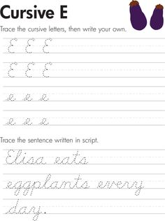 Slideshow: Cursive Handwriting Practice Worksheets (A-Z)