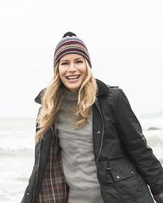 Rainy day wear - lambswool hat - wax riding jacket