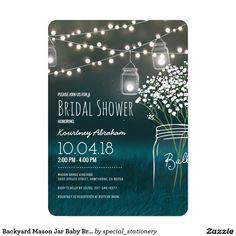 Backyard Mason Jar Baby Breath Bridal Shower