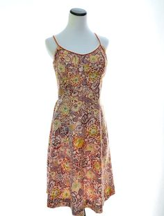 De Weese Design Open Back Floral Dress // 70s by CoolMintMoon, $39.00