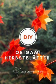 Schritt für Schritt Anleigung für Origami-Herbstblätter aus Transparentpapier