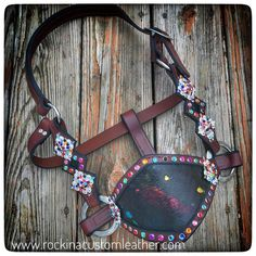 """51 Likes, 2 Comments - Rockin' A Custom leather (@rockinacustomleather) on Instagram: """"Colorful leather halter! Order yours today at www.rockinacustomleather.com #rockinacustomleather…"""""""