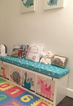 Custom Made Ikea KALLAX Custom Cushion Playroom, Nursery, Organization Bench Seat Ikea Expedit Replacement, Kallax Bench , Playroom Cushion Ikea Kids, Custom Cushions, Bench Cushions, Outdoor Cushions, Window Seat Cushions, Kallax Ideas, Kallax Hacks, Kura Hack, Ikea Expedit