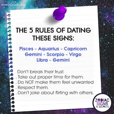 The 5 Rules Of Dating Signs - themindsjournal. Zodiac Sign Traits, Zodiac Signs Horoscope, Zodiac Star Signs, My Zodiac Sign, Astrology Zodiac, Astrology Signs, Zodiac Facts, Zodiac Signs Dates, Zodiac Symbols