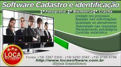 software cadastro e identificação de clientes foto e biometria
