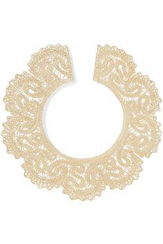 Valentino Gold-tone Lace Color Necklace.