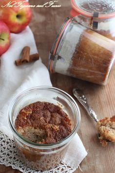 TORTA DI MELE IN VASETTO morbida per moltissimo tempo #vasocottura #sottovuoto #mele #torta