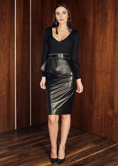 3008813f72 40 Leather Pencil Skirt Outfits That ll Make You Want A Leather Skirt