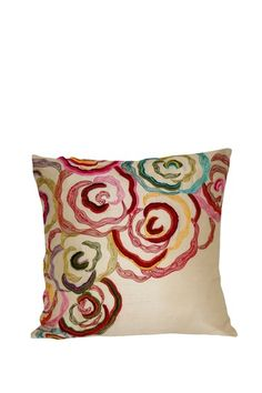 """so pretty - embroidered - but could be """"painted"""" on canvas, then sewn up as pillow covers for switching out!"""