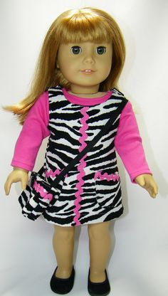 American girl doll jumper three pieces by CindyrellasCloset,