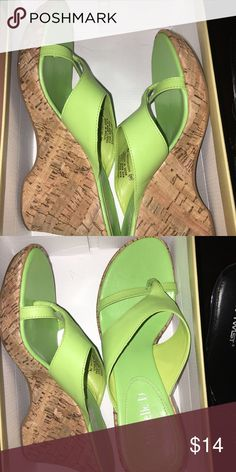 Wedge Sandals Light green wedge sandals (NEW) Shoes Sandals