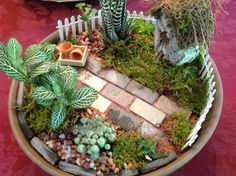 My second Miniature Garden  Love the pavers!!!