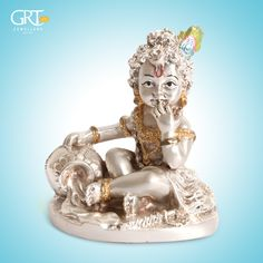 A reminder of the of Lord - Krishna Statue, Lord Krishna, Salvaged Decor, Silver Pooja Items, Gold Temple Jewellery, Silver Ornaments, Pooja Rooms, Silver Accessories, Indian Gods