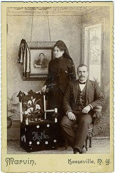Cabinet Card: Anonymous Family In Mourning for 'mother', Keeseville, New York |