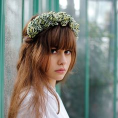 « SUZANNE iris » from the Flowers collection, handmade by Toucan Bleu in Paris    These Suzanne floral crowns will be perfect for all your special
