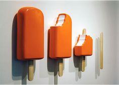 Creamsicle art in orange xD Ice Cream Art, Deco Restaurant, Liquid Hand Soap, Ideias Diy, 3d Prints, Arte Pop, Installation Art, Art Installations, Oeuvre D'art