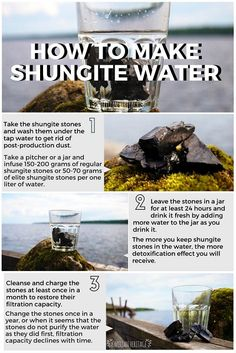 Shungite stones are widely used for water purification. Shungite water is clear and healhty. Get more shungite water instructions and buy quality shungite water stones at Karelian Heritage online store. Crystal Uses, Crystal Magic, Crystal Healing Stones, Stones And Crystals, Minerals And Gemstones, Crystals Minerals, Rocks And Minerals, Crystal Meanings, Mineral Stone