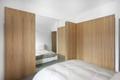 Bedroom inside the nh bf project by StudioATA. Photo by Tommaso Buzzi.