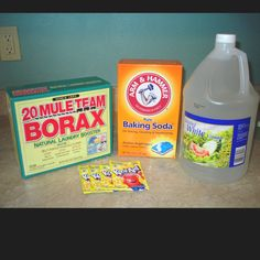 Make your own dishwasher detergent....frugallygreen.com