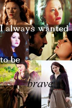 I always wanted to be brave #rumbelle #ouat #belle