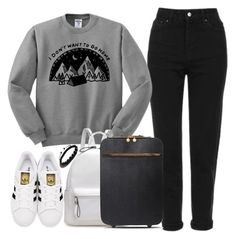 """Untitled #1729"" by anarita11 ❤ liked on Polyvore featuring Topshop, adidas Originals, STELLA McCARTNEY and Shamballa Jewels"