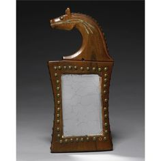 Iowa Painted Wood Horse Effigy Mirror The reverse finely incised with painted geometric motifs. height 14 in. Native American Tools, Native American Ancestry, Native American Artwork, Native American Regalia, Native American Artifacts, American Indian Art, Native American Fashion, Native American History, American Indians